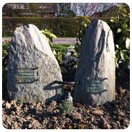 ruwe grafstenen